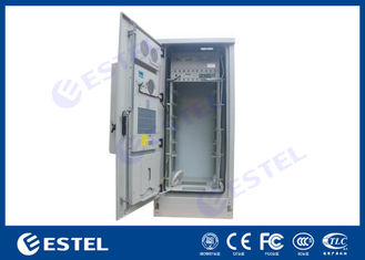 42U Air Conditioner Type Outdoor Telecom Cabinet / Double Wall Heat Insulated Communication Enclosure