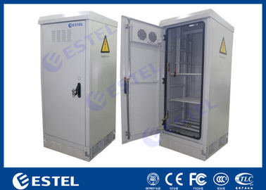 Waterproof Sinlgle Wall Outdoor Power Battery Cabinet / IP55 Outdoor Telecom Cabinet