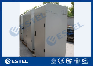 Integrated Outdoor Telecom Cabinet 150W/K Heat Exchanger Cooling System Galvanized Steel